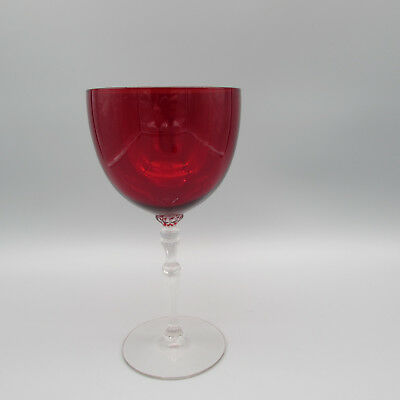 Morgantown Crystal MAJESTY - RUBY RED #7662 Water Goblet
