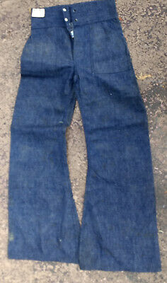 VTG WW1 WWII 1930's or older CCC US ARMY DENIM PANTS JEANS SZ 30 X 30 Rare NOS