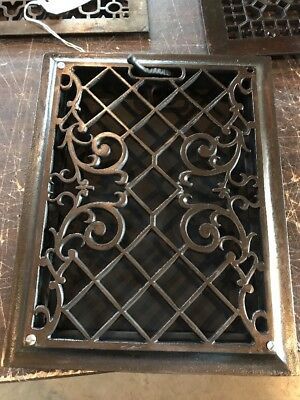 Br 47 Antique Wall Mount Heating Grate Cast-Iron 10.75 X 13.75