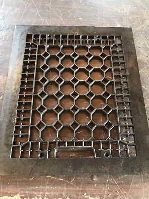 Br 50 Antique Honeycomb Grate face 12 x 14 cracked