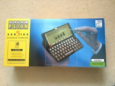 Psion Series 5 PDA in excellent condition, 8mb model - New - Boxed
