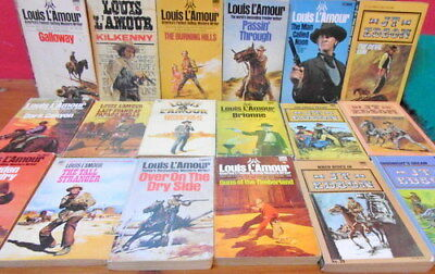JOB LOT of Louise L'Amour (+ 2 others) Paperback COWBOY Books x 15