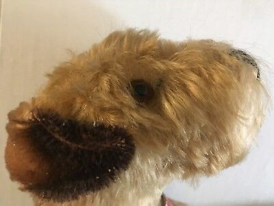 Steiff Terry Airedale vintage dog Collectible .