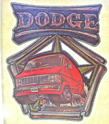 Vintage 70s 80s DODGE SUPER VAN T Shirt Transfer Car Club Truck Automobilia