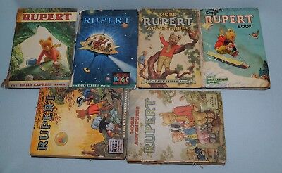 More Adventures Of Rupert The Daily Express Annual's 1971,1966,1951,1968,1952