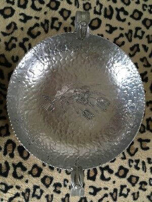 "Aluminum Vintage / Antique Hand Wrought Creation By Rodney Kent 10"" Bowl"