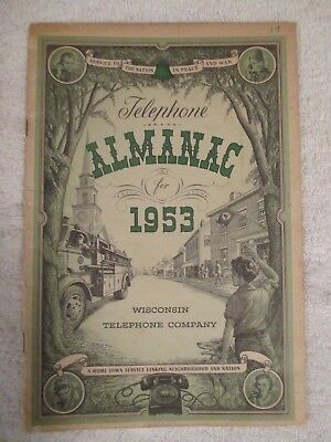1953 Wisconsin Bell Telephone Almanac At & T