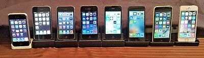 IPHONE COLLECTION 2G, 3G, 3GS, 4, 4S, 5, 5S, 5C (8 phones) ALL IN ORIGINAL BOXES