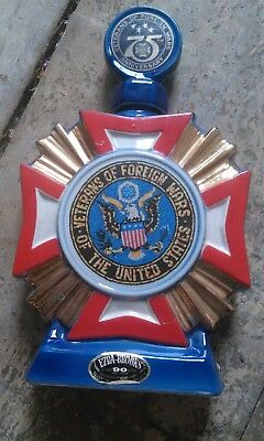 Ezra Brooks VFW Veterans of Foreign Wars 75 Years Decanter 1973