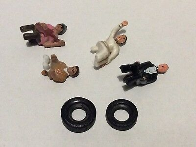 Corgi toys James Bond db5/6 figure + 3 monkeemobile spares & tyres SEE PICS 70s