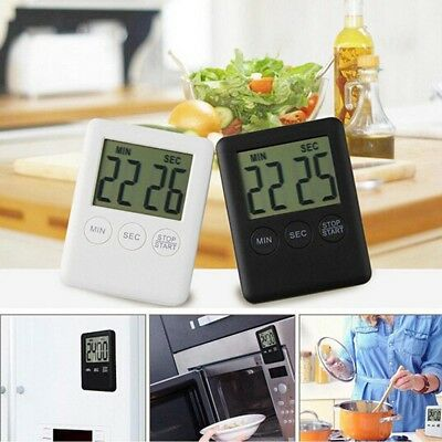 LCD Temporizador Alarm Clock Kitchen Timer Cooking Clock Table Clock