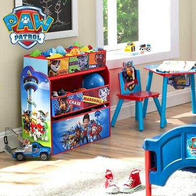 Paw Patrol Organizer Bin Storage Box Kids Toy Childrens Bedroom Play Puppy Gift