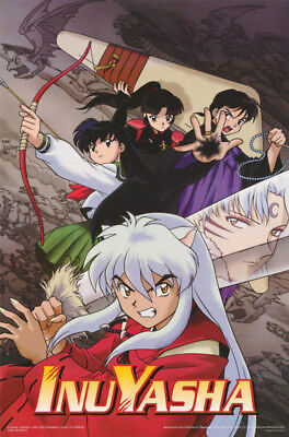 LOT OF 2 POSTERS :Anime Manga: InuYasha - FIGHT SCENE - FREE SHIP  #3367  RC11 H