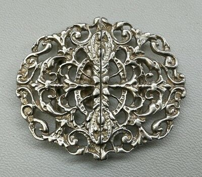 Vintage 1894 Victorian Thomas Hayes Solid Sterling Silver Nurse Belt Buckle
