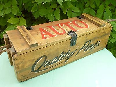 Large Vintage Retro Auto Classic Car Packing Crate Distressed VW Camper Austin