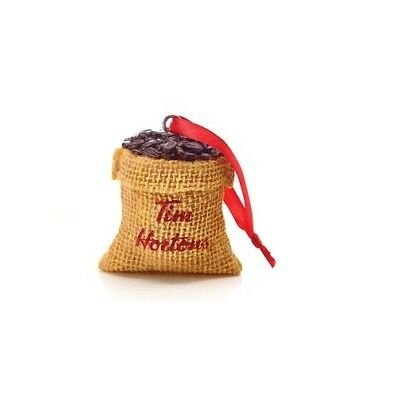 Sealed Tim Hortons 2016 Christmas Tree Ornament Sack of Coffee Unopened in Box