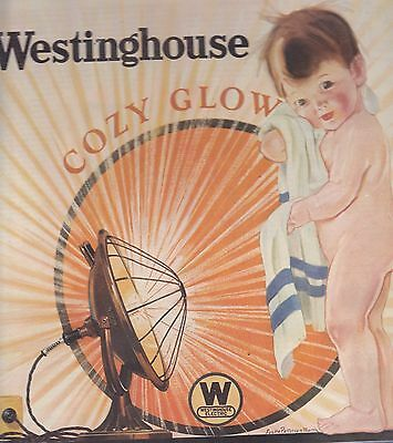 1925 Westinghouse Cozy Glow Heat Lamps  Magazine Ad / Advertisement