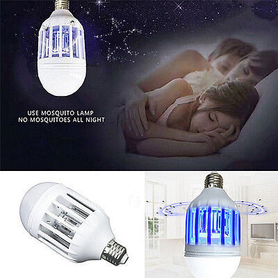 E27 15W LED Zapper Anti Mosquito Light Bulb Lamp Flying Insects Moths Killer ZY