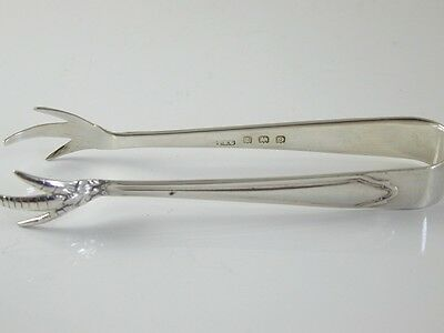 Claw End Sugar Tongs Dated 1913 Sterling Silver I.s. Greenberg & Co 10.9 Grams