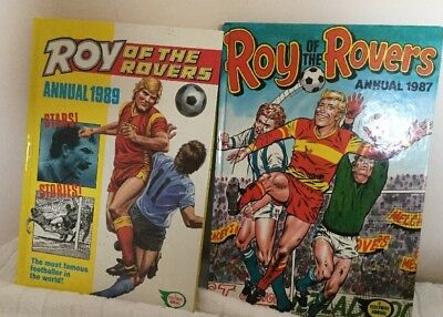 Roy of The Rovers Annuals1987 &1989 Vintage Football/Soccer Hardback