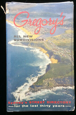 Vintage Gregory's Sydney Street Directory 28th Edition Early 1960s Ampol Ads