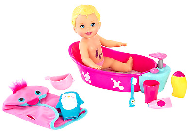 Doll Little Mommy Bubbly Baby Bathtime New Bath Time Pretend Play Girl Deluxe