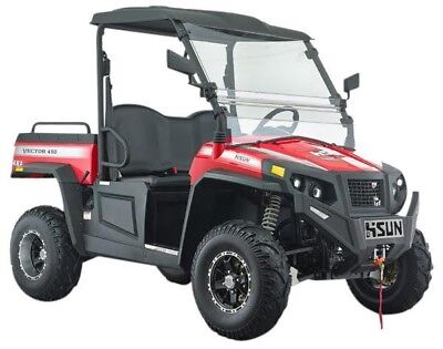 New Hisun 500 Vector Utility Vehicle 454cc H-L-N-R 2/4WD, Winch, Roof & W-Screen