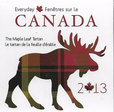 2013 Every Day Canada 50 Cent The Maple Leaf Tartan with Tartan Swatch!!