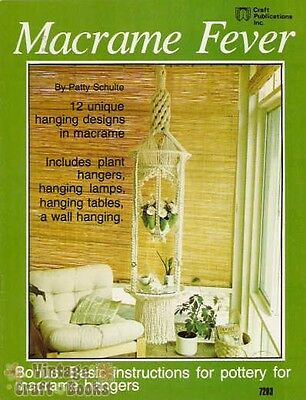 Macrame Fever Patty Schulte Vintage Instruction Book Plant Hangers 1977 NEW