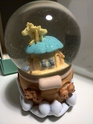 Nursery Baby Gift Noah's Ark Musical Water Snow Globe - tune It's a Small World