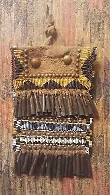 """Native American Beaded Pouch 4"""" x 6"""""""