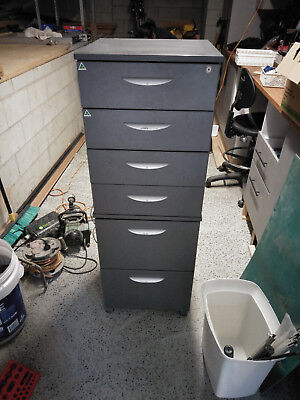 6 drawer large tall mobile filing cabinet suit workshop tool storage chest
