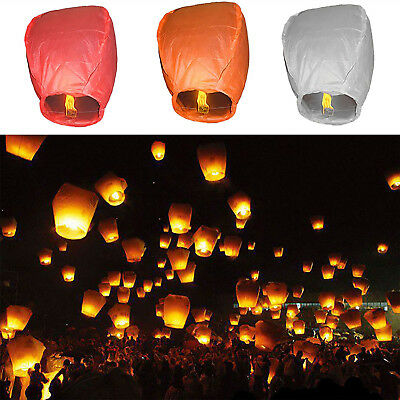 New Paper Chinese Lanterns Oval Sky Fly Candle Lamp For Wish Party Wedding NT