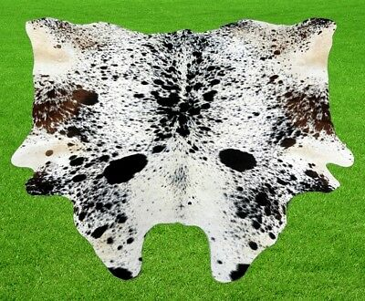 "New Cowhide Rugs Area Cow Skin Leather 15.99 sq.feet (49""x47"") Cow hide MB-32"