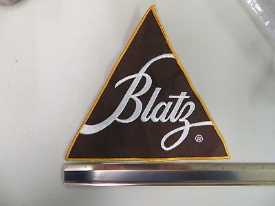 """Blatz Beer Delivery Driver Triangular Cloth Logo Patch 8 1/4"""""""