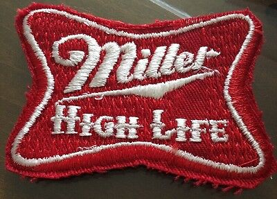Vintage Miller High Life Beer Embroidered Iron-On Patch