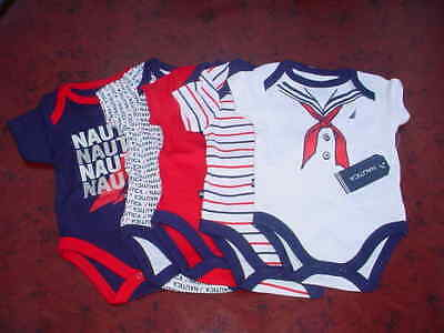 Nautica Baby-Boys Newborn 5 Pack Sailor Bodysuit, Assorted, 0-3 Months