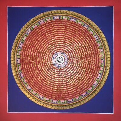 Large Original Handpainted Tibetan Chinese Mandala Thangka Gold Fine Painting 10