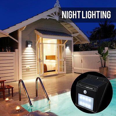 2pcs New Solar Power Sensor Wall Light Security Motion Weatherproof Outdoor Lamp