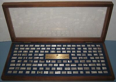 Flags of the United Nations Silver Mini-Ingot Collection with Display Case 1975