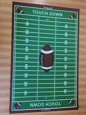 Kids Play Football Field Ground Anti Skid Rubber Backing Area Rug - 700