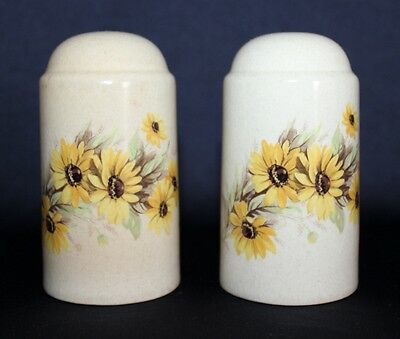 Retro Johnson Bros Salt & Pepper Shakers With Yellow Daisy Motif
