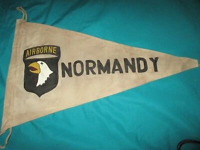Wwii Us Army 101 St Airborne Division Normandy D-Day  Banner  Flag