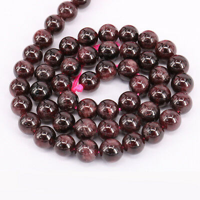 Natural Gem Stone Round Spacer Loose Beads Chic Jewelry Finding Mix Craft 4-10 mm