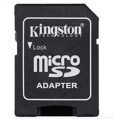 NEW! Kingston Micro SD to SD HC/XC SDHC Memory Card Adapter Reader