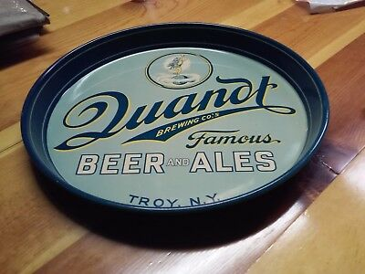 Quandt Beer Serving Tray. 12 inch. Troy, NY. MINT Condition!