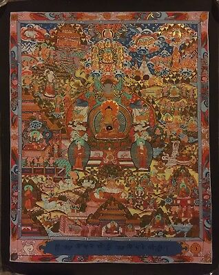 Original Tibetan Chinese HandPainted Buddha Mandala Painting thangka Meditation