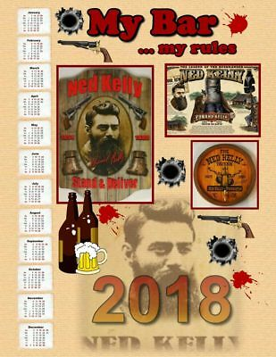"""Ned Kelly """"Stand & Deliver"""" Calendar For 2018"""