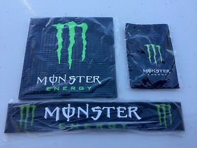 MONSTER ENERGY Bar Mat Combo Set All Included Free Priority Shipping