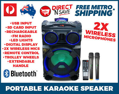 Portable Entertainment Party Speaker Bluetooth All-in-1 Karaoke System LG-102B